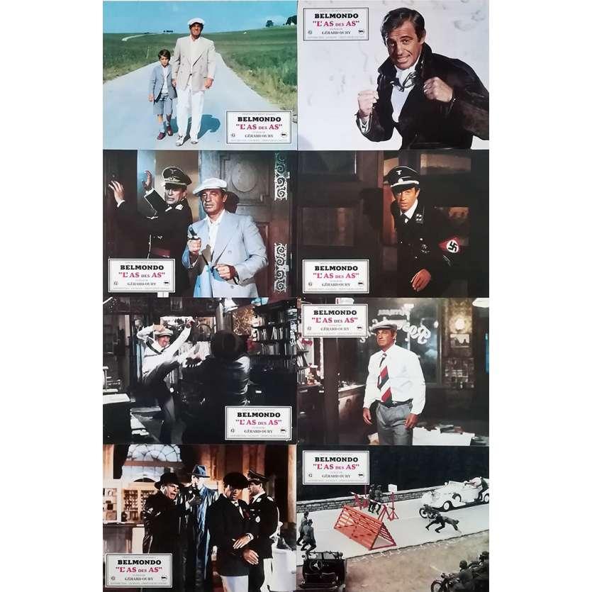 L'AS DES AS Photos de film x8 - 21x30 cm. - 1982 - Jean-Paul Belmondo, Gerard Oury