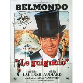 LE GUIGNOLO Original Movie Poster Style A - 47x63 in. - 1980 - Georges Lautner, Jean-Paul Belmondo