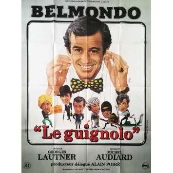 LE GUIGNOLO Original Movie Poster Style B - 47x63 in. - 1980 - Georges Lautner, Jean-Paul Belmondo