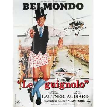 LE GUIGNOLO Affiche de film Mod. C - 120x160 cm. - 1980 - Jean-Paul Belmondo, Georges Lautner