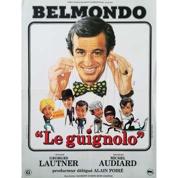 LE GUIGNOLO Original Movie Poster Style B - 15x21 in. - 1980 - Georges Lautner, Jean-Paul Belmondo