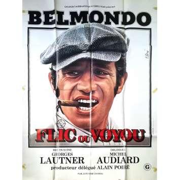 FLIC OU VOYOU Affiche de film - 120x160 cm. - 1979 - Jean-Paul Belmondo, Georges Lautner