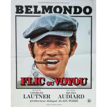 FLIC OU VOYOU Affiche de film - 40x60 cm. - 1979 - Jean-Paul Belmondo, Georges Lautner