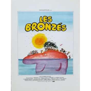 LES BRONZES Synopsis - 21x30 cm. - 1978 - Le Splendid, Patrice Leconte