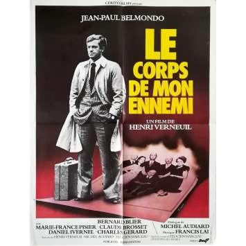 LE CORPS DE MON ENNEMI Affiche de film - 60x80 cm. - 1976 - Jean-Paul Belmondo, Henri Verneuil