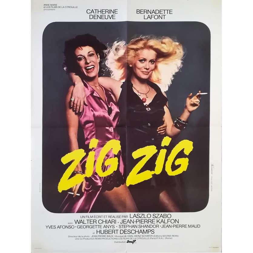ZIG-ZIG Affiche de film - 60x80 cm. - 1975 - Catherine Deneuve, László Szabó