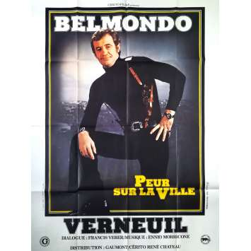 NIGHT CALLER Original Movie Poster - 47x63 in. - 1975 - Henri Verneuil, Jean-Paul Belmondo