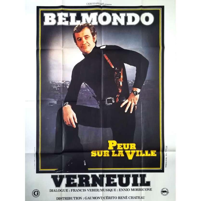 PEUR SUR LA VILLE Affiche de film - 120x160 cm. - 1975 - Jean-Paul Belmondo, Henri Verneuil