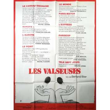 LES VALSEUSES Affiche de film critiques - 120x160 cm. - 1974 - Patrick Dewaere, Gérard Depardieu, Bertrand Blier