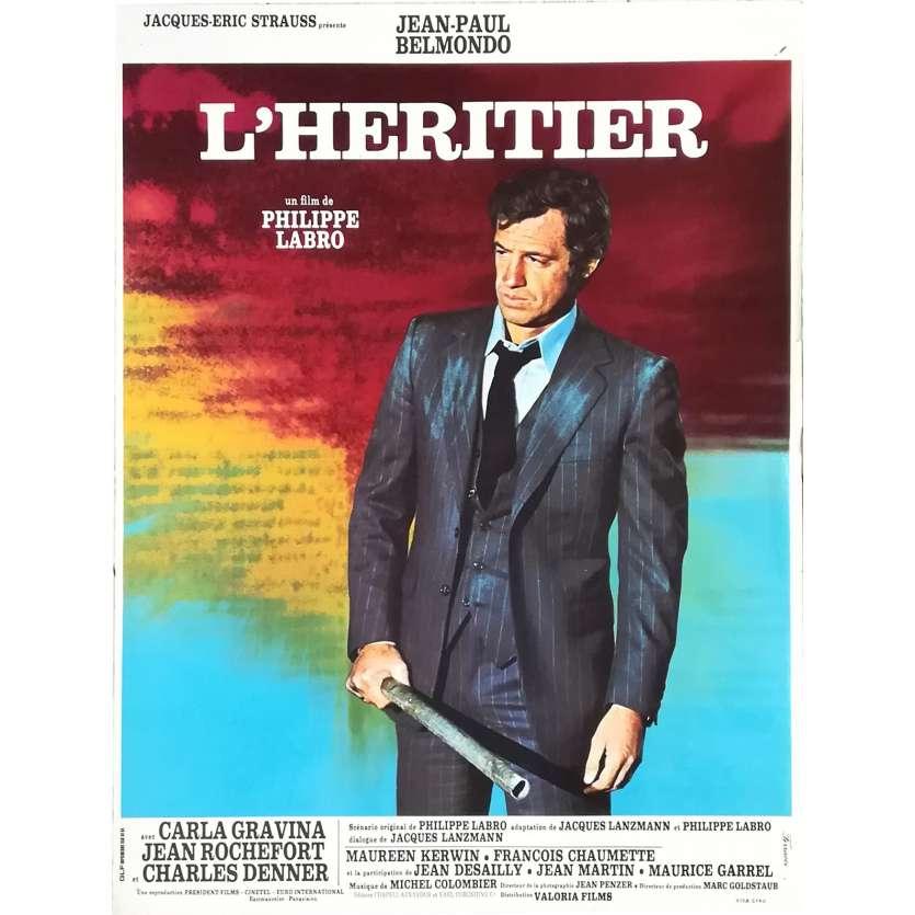 L'HERITIER Affiche de film - 40x60 cm. - 1973 - Jean-Paul Belmondo, Philippe Labro
