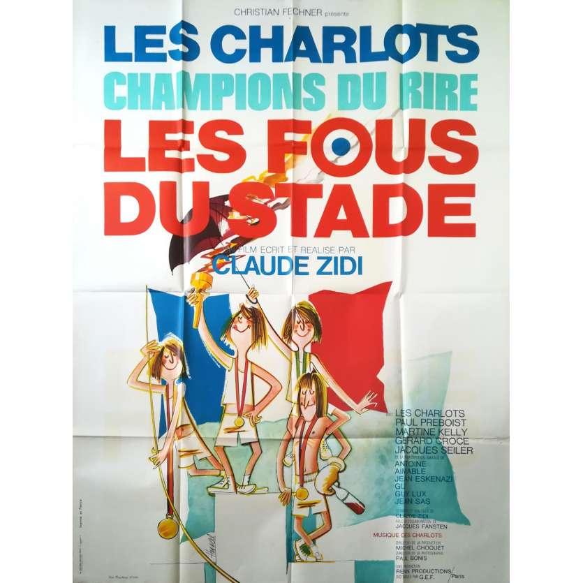 LES FOUS DU STADE Affiche de film - 120x160 cm. - 1972 - Gérard Rinaldi, Claude Zidi