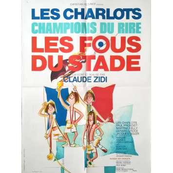 LES FOUS DU STADE Affiche de film - 60x80 cm. - 1972 - Gérard Rinaldi, Claude Zidi