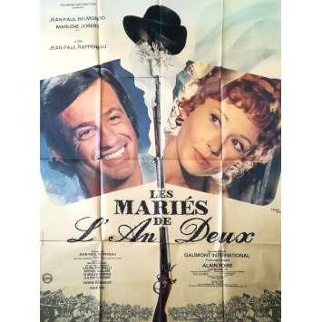 LES MARIES DE L'AN DEUX Affiche de film - 120x160 cm. - 1971 - Jean-Paul Belmondo, Jean-Paul Rappeneau