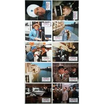 LE GUIGNOLO Original Lobby Cards x10 - 9x12 in. - 1980 - Georges Lautner, Jean-Paul Belmondo