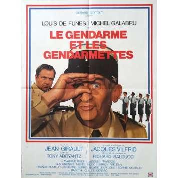 LE GENDARME ET LES GENDARMETTES Affiche de film Mod A - 60x80 cm. - 1982 - Louis de Funès, Jean Girault
