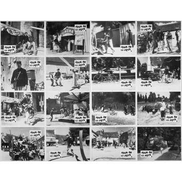 JOUR DE FETE Original Lobby Cards x16 - 9x12 in. - R1970 - Jacques Tati, Paul Frankeur