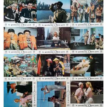 LE GENDARME A NEW-YORK Photos de film x12 - 21x30 cm. - 1965 - Louis de Funès, Jean Girault