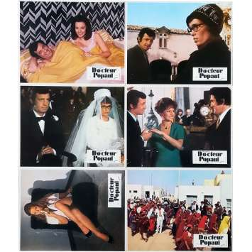 PLAY NOW PAY LATER Original Lobby Cards x6 - 9x12 in. - 1972 - Claude Chabrol, Jean-Paul Belmondo