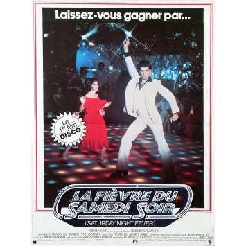 LA FIEVRE DU SAMEDI SOIR Affiche de film 40x60 cm - 1977 - John Travolta, Disco