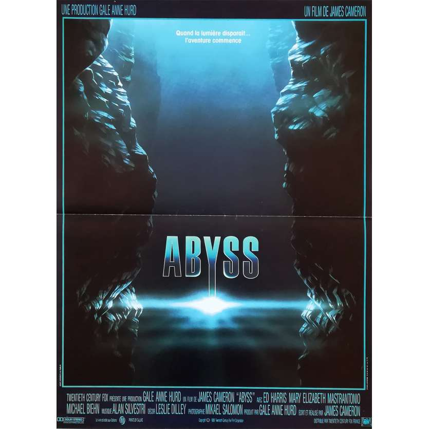 ABYSS French Movie Poster 15x21 '89 James Cameron, Ed Harris