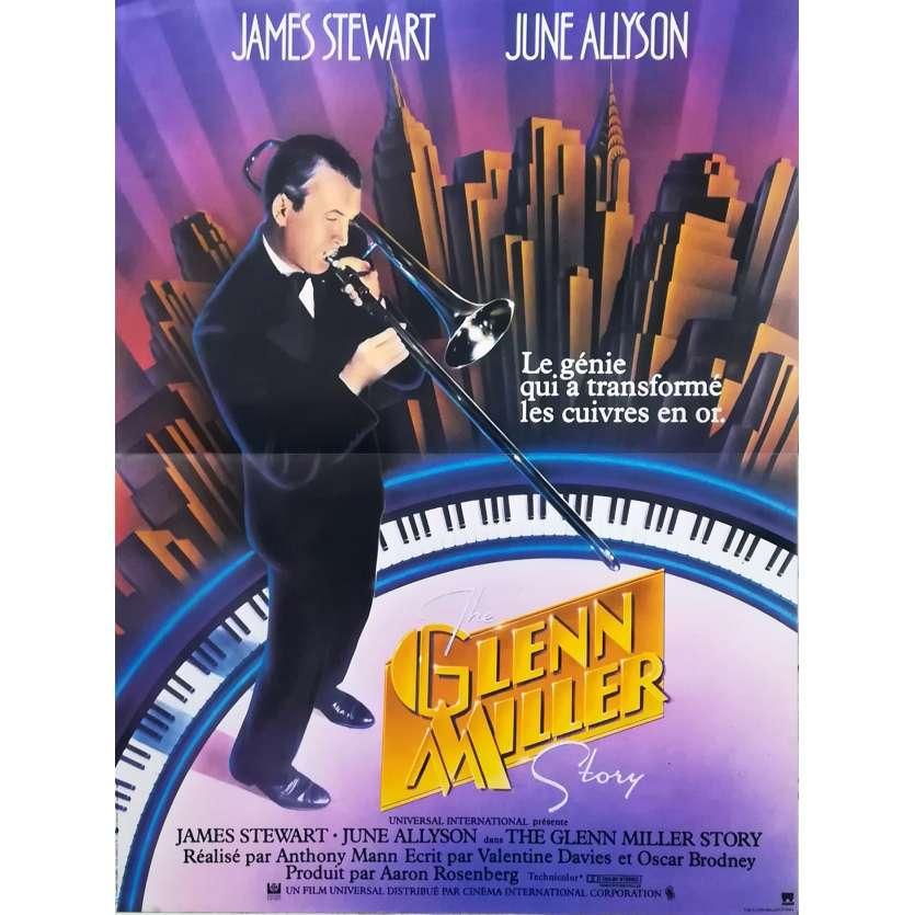 THE GLENN MILLER STORY French Movie Poster 15x21 R80 Anthony Mann, James Stewart