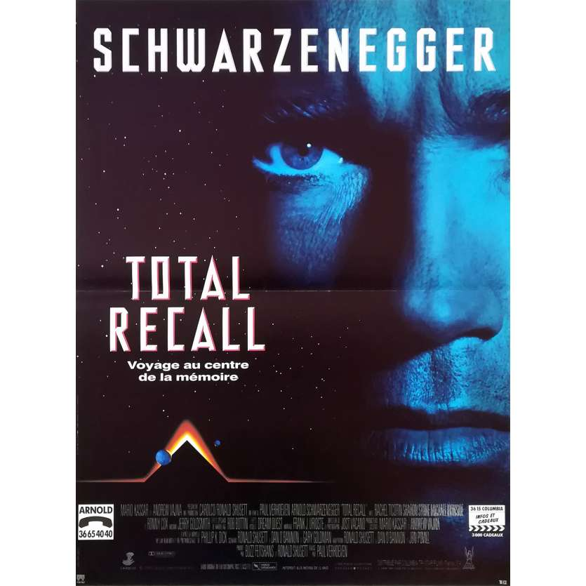 TOTAL RECALL French Movie Poster 15x21 - 1990 - Paul Verhoeven, Arnold Schwarzenegger