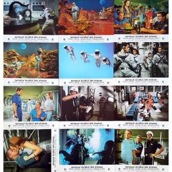 THE GREEN SLIME Original Lobby Cards x12 - 9x12 in. - 1968 - Kinji Fukasaku, Robert Horton