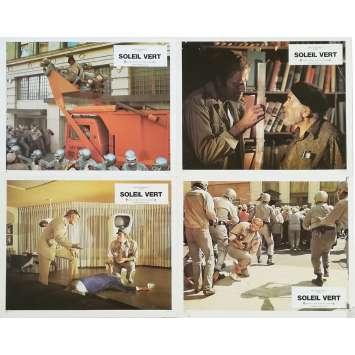 SOYLENT GREEN Original Lobby Cards x4 - 9x12 in. - 1973 - Richard Fleisher, Charlton Heston