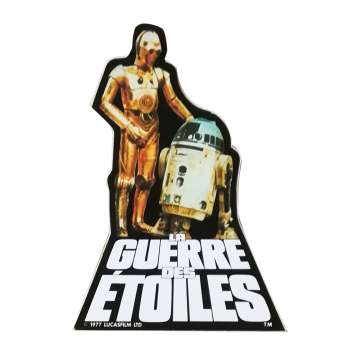 STAR WARS - LA GUERRE DES ETOILES Autocollant - 6x6 cm. - 1977 - Harrison Ford, George Lucas
