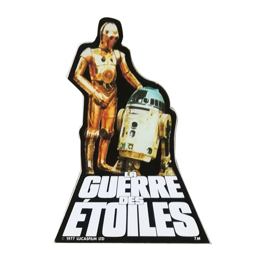 STAR WARS - A NEW HOPE Original Sticker - 2x2 in. - 1977 - George Lucas, Harrison Ford