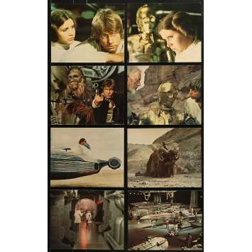 STAR WARS - A NEW HOPE Original Lobby Cards x8 - DeLuxe - 8x10 in. - 1977 - George Lucas, Harrison Ford