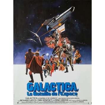 BATTLESTAR GALACTICA Original Movie Poster - 15x21 in. - 1978 - Glen A. Larson, Michael Hogan