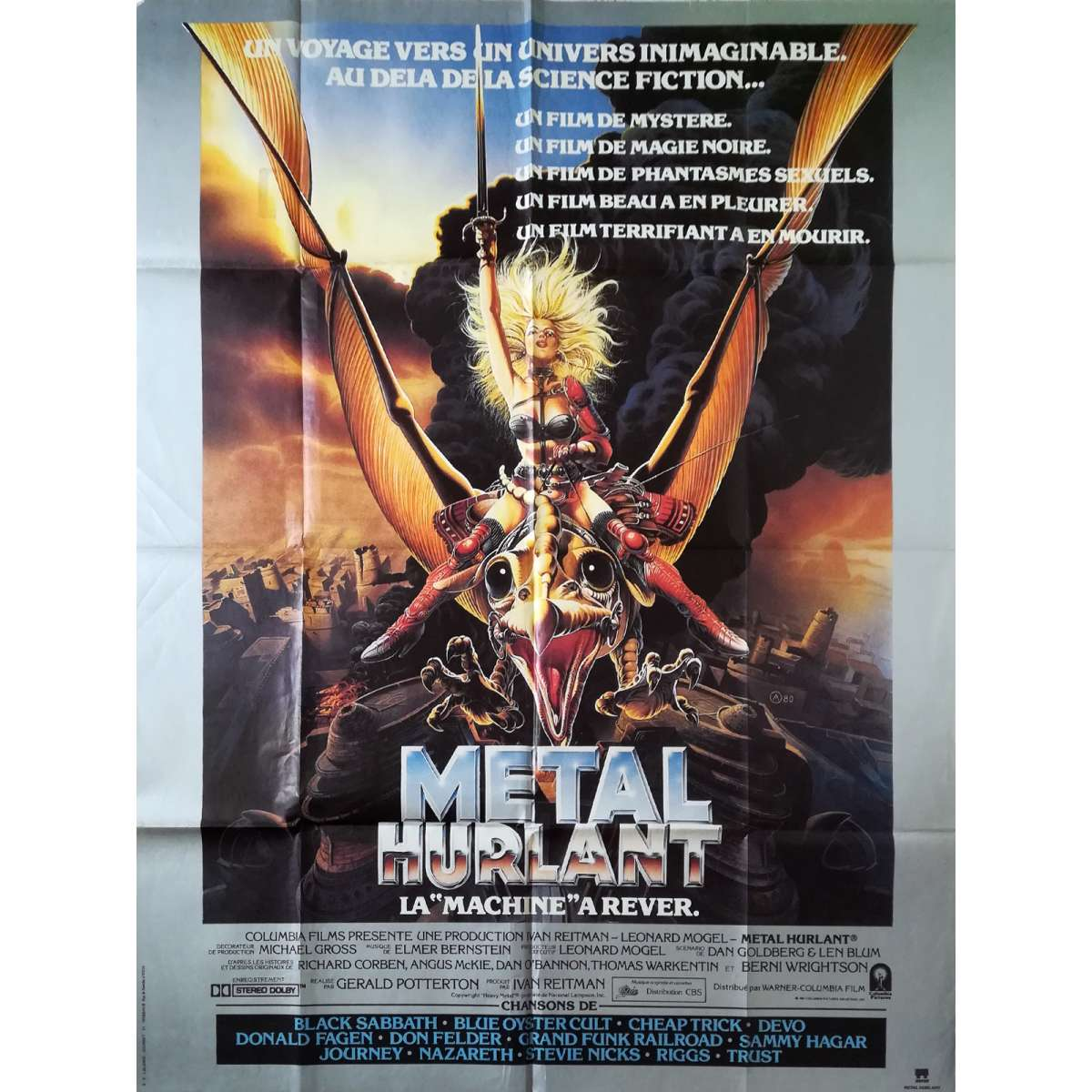 Heavy Metal Movie Poster 47x63 In