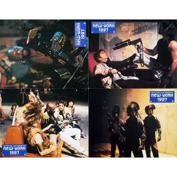 ESCAPE FROM NEW-YORK Original Lobby Cards x4 - 9x12 in. - 1981 - John Carpenter, Kurt Russel