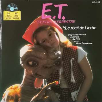 "E.T. THE EXTRA-TERRESTRIAL Original 7"" Records - 9x12 in. - 1982 - Steven Spielberg, Dee Wallace"