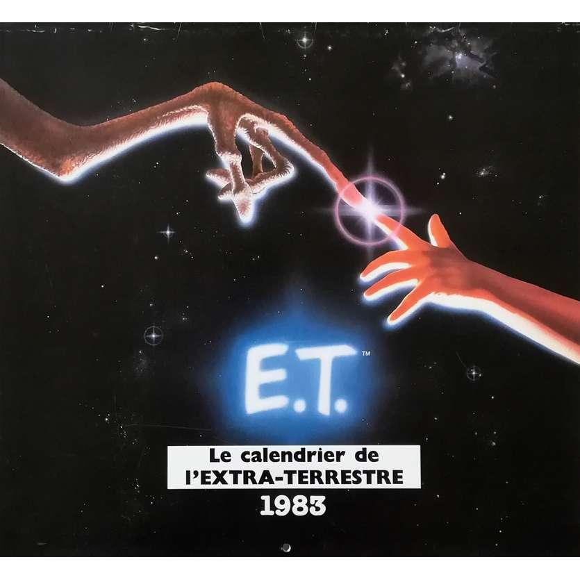 E.T. L'EXTRA-TERRESTRE Calendrier d'époque - 21x30 cm. - 1982 - Dee Wallace, Steven Spielberg