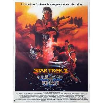 STAR TREK 2 LA COLERE DE KHAN Affiche de film - 40x60 cm. - 1982 - Leonard Nimoy, Nicholas Meyer
