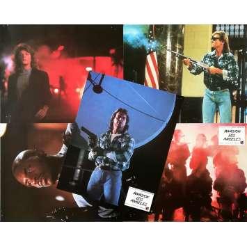 THEY LIVE Original Lobby Cards x5 - 10x12 in. - 1988 - John Carpenter, Roddy Piper