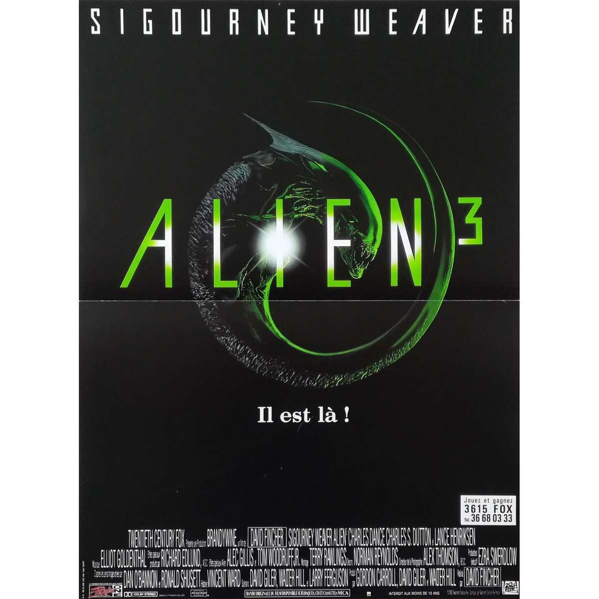Alien 3 Movie: ALIEN 3 Movie Poster 15x21 In