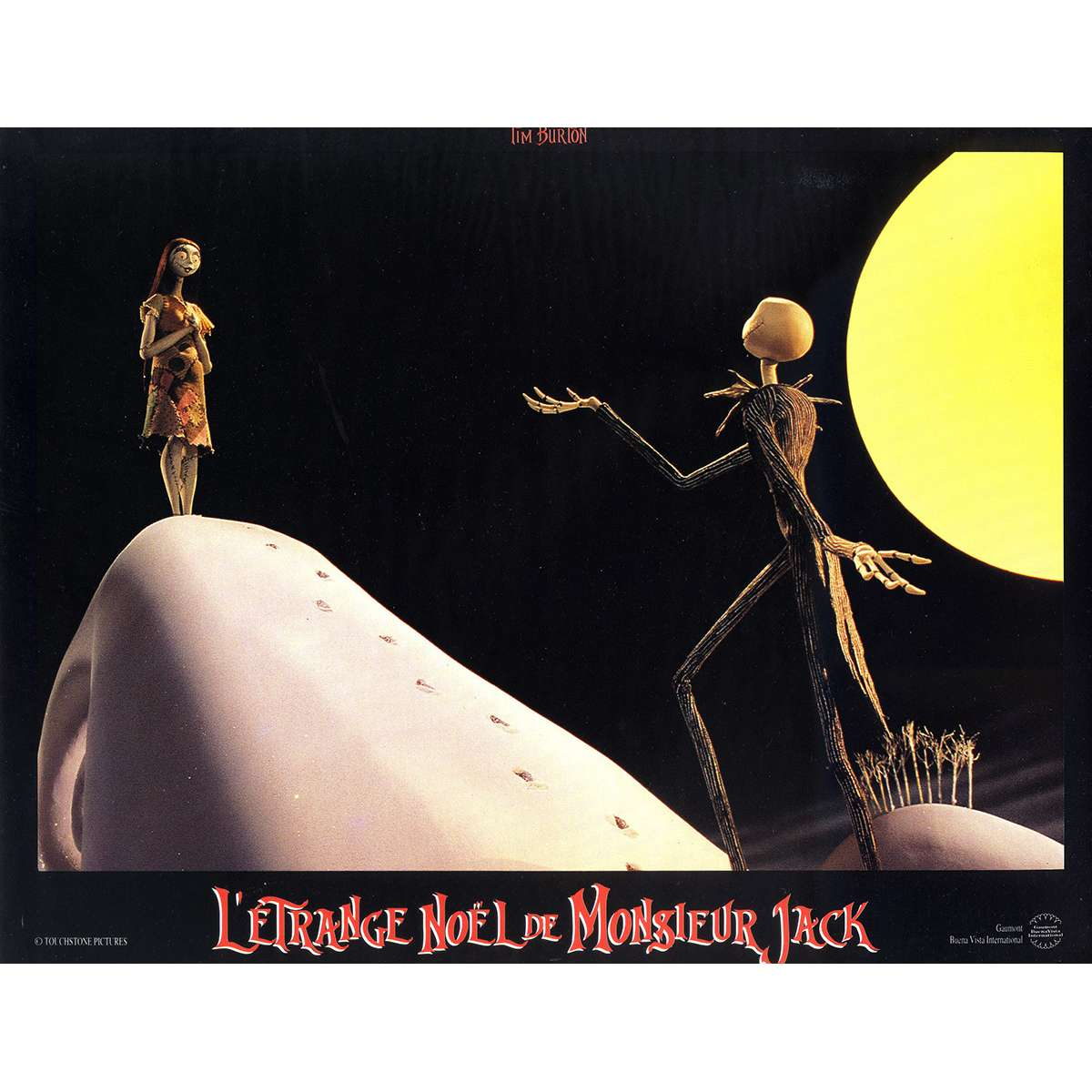Nightmare Before Christmas In French.The Nightmare Before Christmas Original Lobby Card N06 9x12 In 1993 Tim Burton Danny Elfman