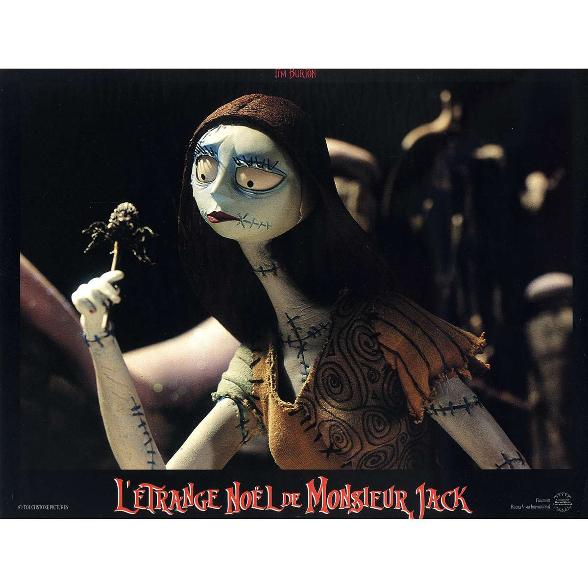 Nightmare Before Christmas In French.The Nightmare Before Christmas Original Lobby Card N03 9x12 In 1993 Tim Burton Danny Elfman