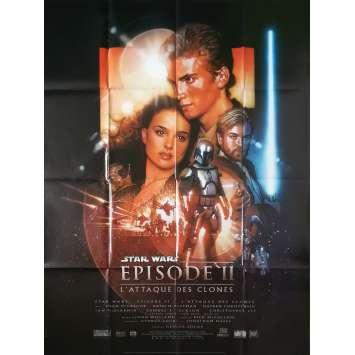 STAR WARS - L'ATTAQUE DES CLONES Affiche de film - 120x160 cm. - 2002 - Natalie Portman, George Lucas