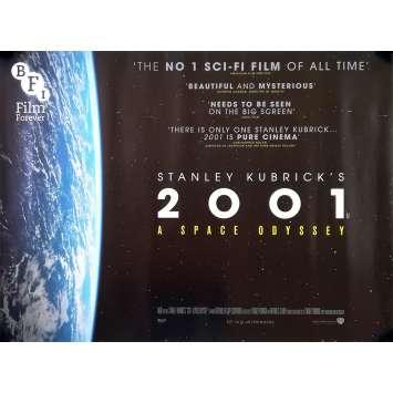 2001 L'ODYSSEE DE L'ESPACE Affiche de film - 76x102 cm. - R1990 - Keir Dullea, Stanley Kubrick