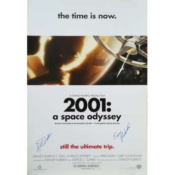 2001 L'ODYSSEE DE L'ESPACE Affiche signée - 69x102 cm. - R2000 - Keir Dullea, Stanley Kubrick