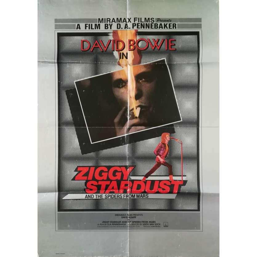 ZIGGY STARDUST Original Movie Poster - 27x40 in. - 1973 - D.A. Pennebaker, David Bowie