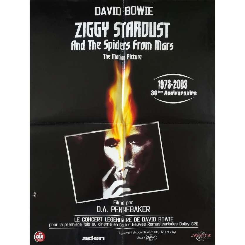 ZIGGY STARDUST Original Movie Poster - 23x32 in. - 1973 - D.A. Pennebaker, David Bowie