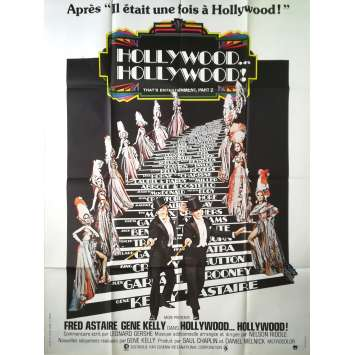 HOLLYWOOD HOLLYWOOD Affiche de film - 120x160 cm. - 1976 - Fred Astaire, Gene Kelly