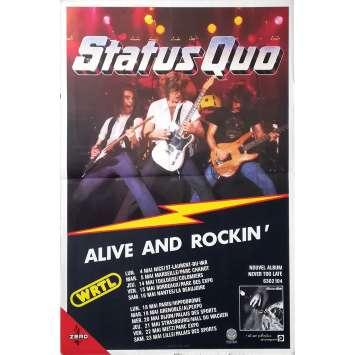 STATUS QUO Affiche Promotion - 40x60 cm. - 1978 - Status Quo, Status Quo