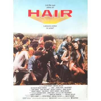 HAIR Affiche de film - 40x60 cm. - 1979 - John Savage, Milos Forman