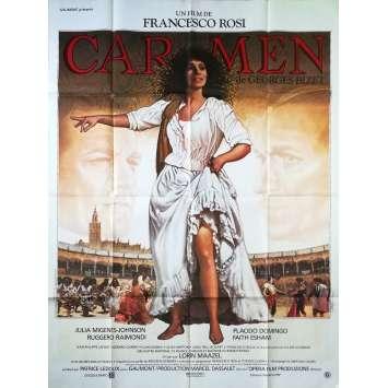 CARMEN Affiche de film - 120x160 cm. - 1984 - Julia Migenes, Francesco Rosi